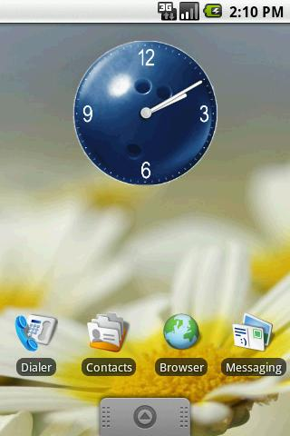 Bowling Ball Clock Widget 2x2 - screenshot