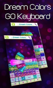Dream colors go keyboard theme android apps on google play - Dreaming of the color white ...