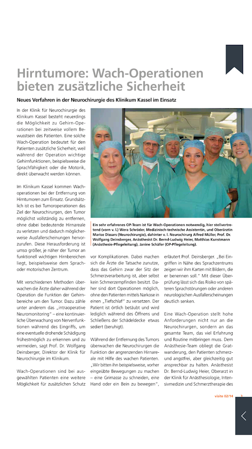 visite – GNH Patientenmagazin – Screenshot