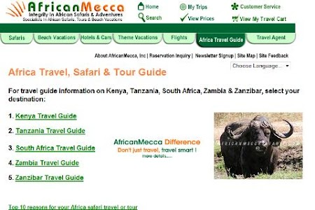 Africa Safari Travel Guide screenshot 1