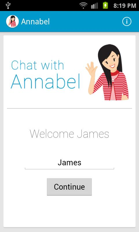 Chat with Annabel - screenshot