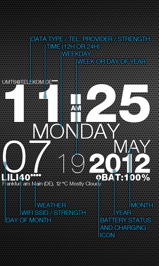wp clock - screenshot
