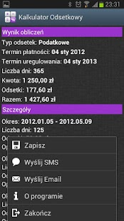 Kalkulator Odsetkowy Screenshot 5