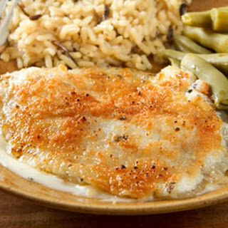 Oven-Baked Tilapia in Parmesan Sauce.