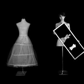 DOLL by Tim Kek - Digital Art People ( model, photo frame, girl, editing, digital art, art, lady, women )