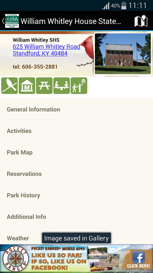 KY State Parks Guide- screenshot