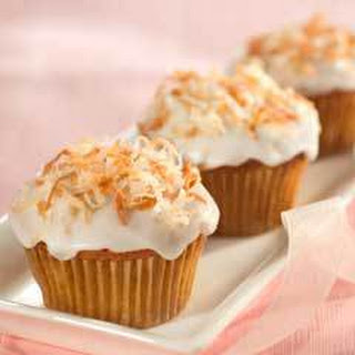 Coconut-banana Cupcakes.