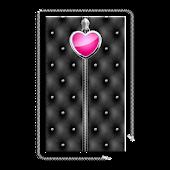 Heart Zipper Screen Lock