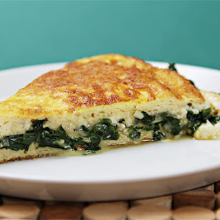Soufflé omelet with Robiola and sautéed ramps