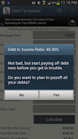 Screenshot of Debt to Income -DTI Calculator