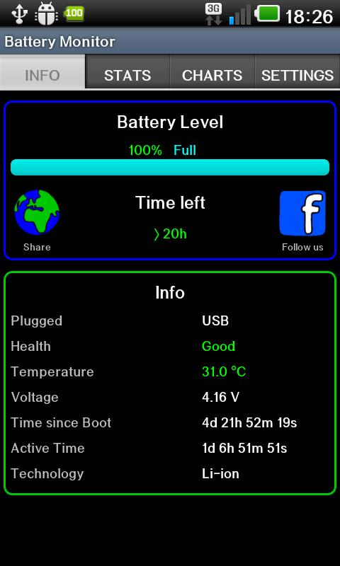 Battery Monitor Widget- screenshot