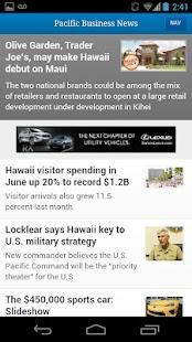 Pacific Business News- screenshot thumbnail