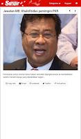 Screenshot of Sinar Harian (NewsFeed)