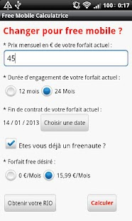 Free Mobile Calculatrice - screenshot thumbnail