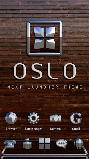 NEXT Launcher Theme OSLO 3D