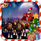 Santa sleigh parking 3D icon