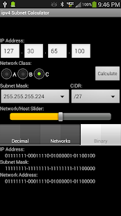 ipv4 Subnet Calculator- screenshot thumbnail