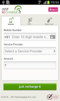 Screenshot of Mobile, DTH, Datacard Recharge
