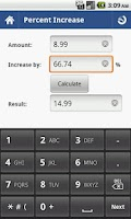 Screenshot of Percent Calculator