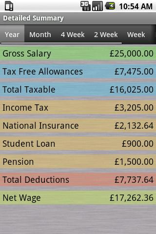 PAYE Tax Calculator (Free)- screenshot