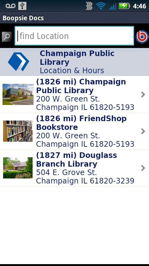 Champaign Public Library- screenshot
