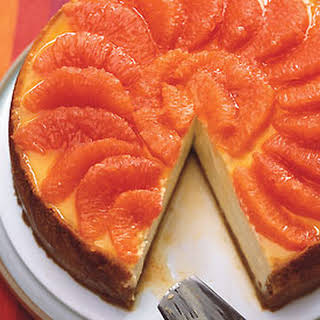Ginger and Pink Grapefruit Cheesecake.