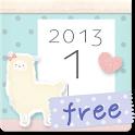*アルパカさんカレンダーウィジェット* free icon
