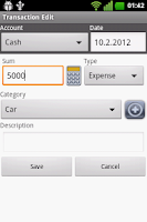 Screenshot of Rise Money - expense tracker