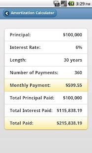 Free Amortization Calculator- screenshot thumbnail