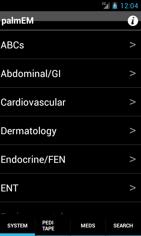 palmEM: Emergency Medicine- screenshot