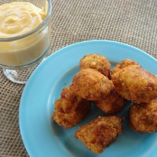 Mashed Potato Bites and Cheesy Dip
