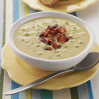 Sweet Pea Soup with Bacon.