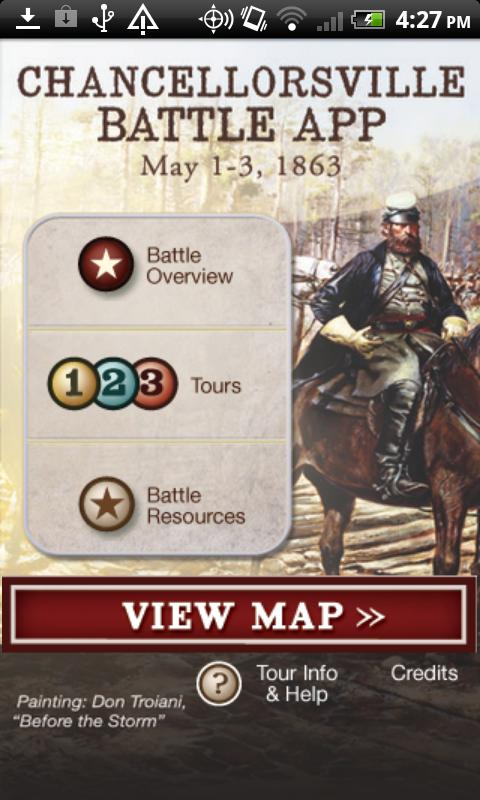Chancellorsville Battle App - screenshot