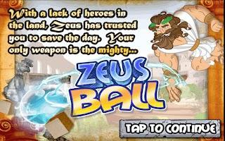 Screenshot of Zeus Ball