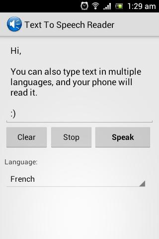 Text To Speech Reader - screenshot