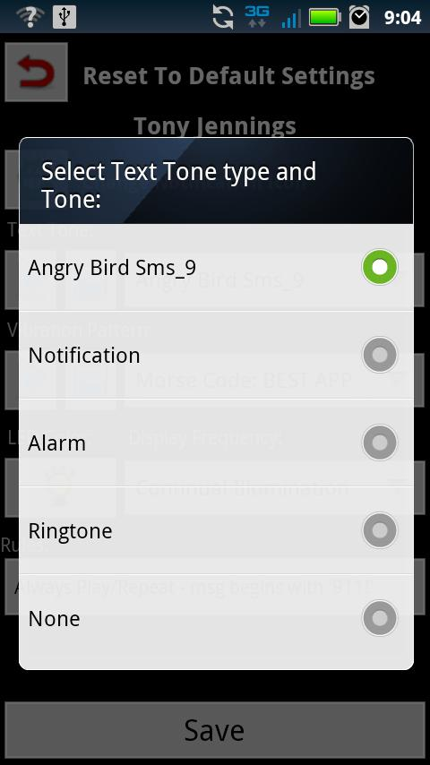 Text Tone - screenshot
