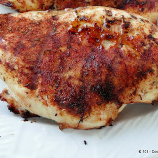 Grilled Blackened Skinless Boneless Chicken Breasts