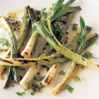 Marinated Grilled Baby Leeks