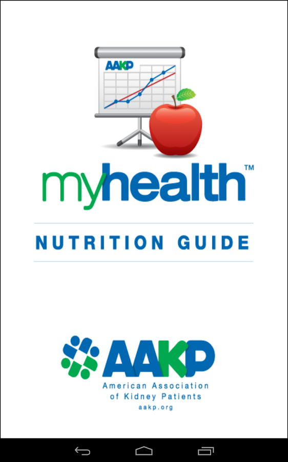 AAKP myHealth Nutrition Guide- screenshot