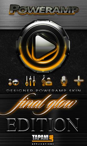 Poweramp skin Orange Glow