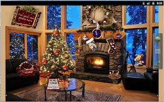 Screenshot of Christmas Fireplace LWP