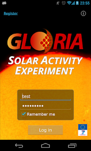 GLORIA Solar Activity: miniatura de captura de pantalla