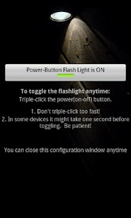 Power-Button Flash Light- screenshot thumbnail