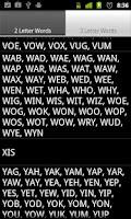 Screenshot of Scrabble Short Words