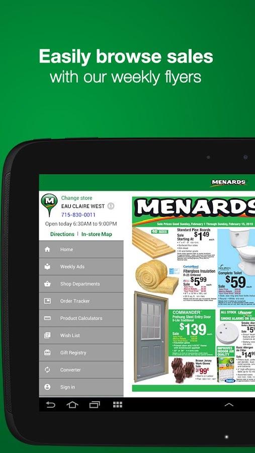 Menards® - screenshot