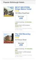 Screenshot of Hotels in Edinburgh