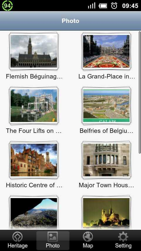 World Heritage in Belgium - screenshot