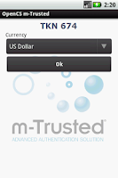 Screenshot of m-Trusted