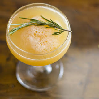 Peach and Rosemary Cocktail.