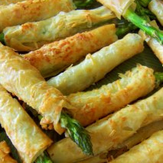 Asparagus Phyllo Appetizers.